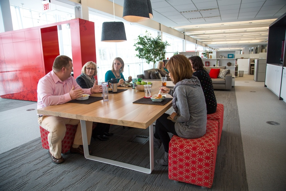 employee centric office design new day office haworth